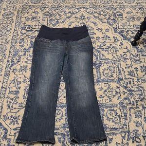 Motherhood Maternity sz large blue jeans